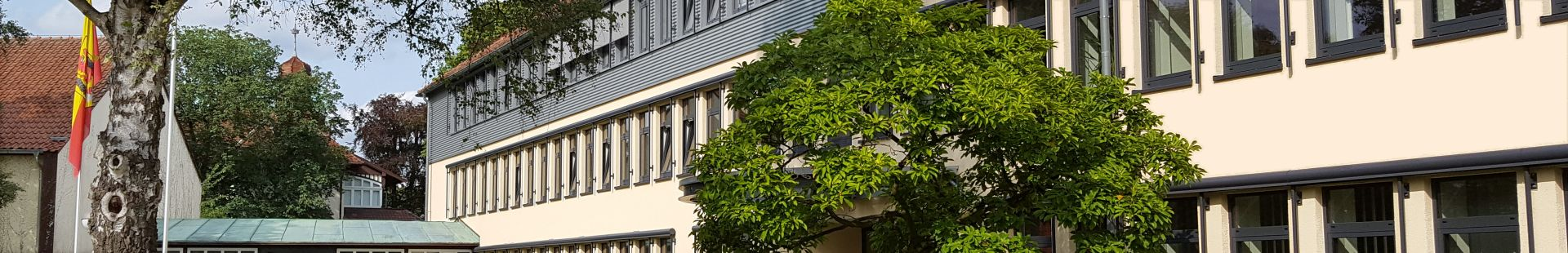 Kreishaus in Diepholz (Haupteingang in der Niedersachsenstraße)