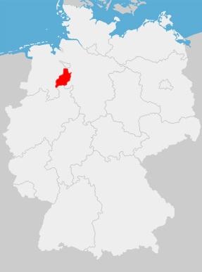 Deutschlandkarte mit Landkreis Diepholz