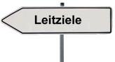 Leitziele, Schild zeigt nach links©Landkreis Diepholz
